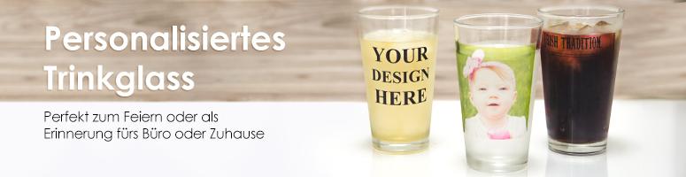 Personalisiertes Trinkglas