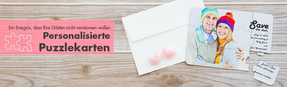 foto puzzleals einladungskarte bilder