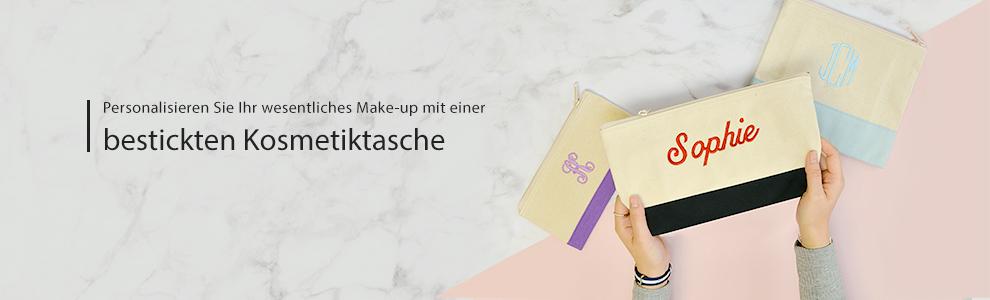 Bestickte Kosmetiktasche Clutch