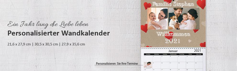 Personalisierte Foto-Wandkalender