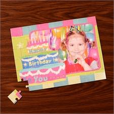 Foto-Puzzle Geburtstagskuchen
