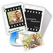 Personalisierte Spielkarten Hochzeitstag (1, 13 oder 52 Fotos)