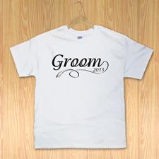 Bräutigam Mann Weiß T-Shirt Baumwolle Gestalten Kleine Größe Small
