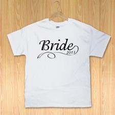 Braut Weiß T-Shirt Baumwolle Gestalten Kleine Größe Small Erinnerung
