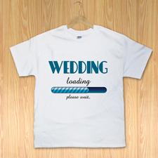 Hochzeit lädt T-Shirt Gestalten Weiß Kleine Größe Small