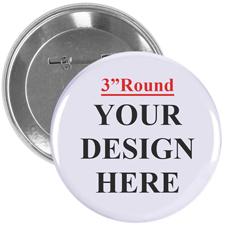 7,62 cm Runder Personalisierter Button Foto/Text Schöne Farben