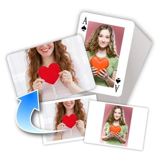 Ich mag Dich Gestaltbare Foto-Spielkarten Beide Seiten