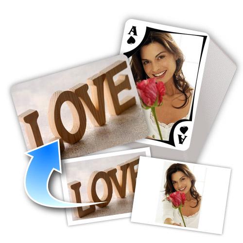 Liebe Love L'Amour Personalsierte Spielkarten