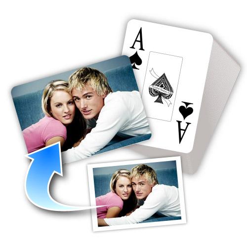 Grußdruck Liebe Love L'Amour Spielkarten