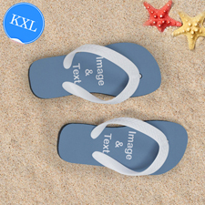 Personalisierte Strandsandalen Kinder Größe XL 37-39 EIN BILD Weiß