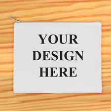 Beiger Zipp Beide Seiten gleich Personalisieren 20,3 x 25,4 cm Clutch