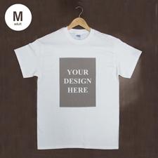 Weiß Medium T-Shirt Baumwolle Hochformat für Erwachsene Gestalten