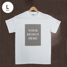 Weiß Große Größe L T-Shirt Baumwolle Hochformat für Erwachsene Gestalten