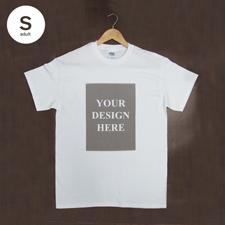 Weiß Kleine Größe S T-Shirt Baumwolle Hochformat für Erwachsene Gestalten