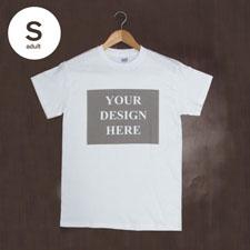 Weiß Small T-Shirt Baumwolle Querformat Herren Gestalten