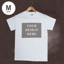 Weiß Medium T-Shirt Baumwolle Querformat Herren Gestalten