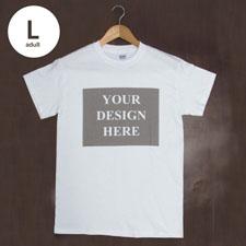 Weiß Große Größe T-Shirt Baumwolle Querformat Herren Gestalten