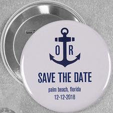 Ankern im Hafen der Ehe Hochzeit Button 7,6 cm Durchmesser