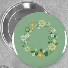Blaue Blume Hochzeit Button 76mm