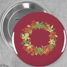 Schöne Blumen Hochzeit Button 76mm