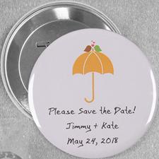 Unterm Schirm Hochzeit Button 76mm