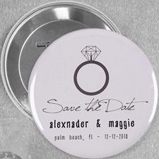 Verlobungsring Button 76mm Personalisiert