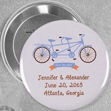 Tandem Hochzeit Button 76mm Personalisiert