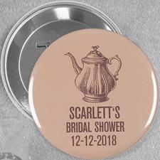 Teekanne Brautgeschenk Button 76mm Personalisiert