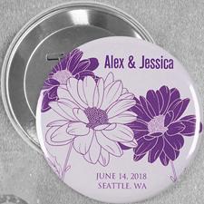 Save The Date Gänseblümchen Hochzeit Button 76mm