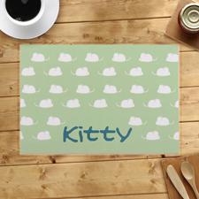 Kittys Personalisierte Futterstellenunterlage für Hund' und Katz