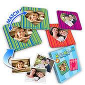Personalisiertes Memo Foto Spiel Strichkode Herz Valentin