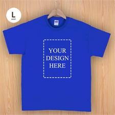 Keep calm und frag Mutti T-Shirt Personalisieren Größe L Large Blau