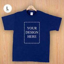 Keep calm und frag Mutti T-Shirt Personalisieren Größe L Large Navy Dunkelblau