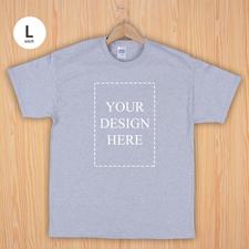 Keep calm und frag Mutti T-Shirt Personalisieren Größe L Large Silber Grau