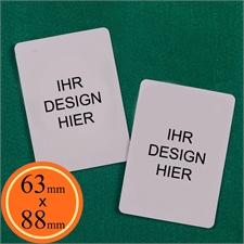 Blankokarten 63 x 88 mm Personalisieren Hochformat