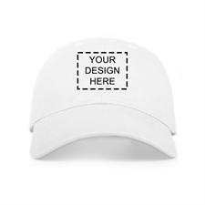 Weiße Kappe Personalisierte Vorderseite 43 - 61 cm