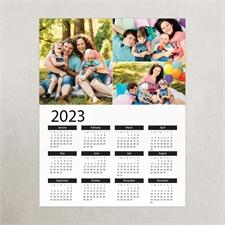 Weiß Hochformat 2019 Posterkalender Dreier Collage 27,9 x 35,6 cm