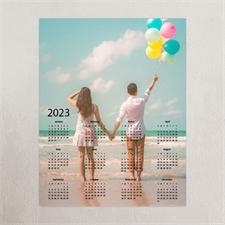 Vollbild Kalender Poster 2018 Grau 27,9 x 35,6