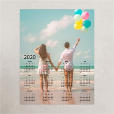 Vollbild Kalender Poster 2018 Grau 40,6 x 50,8 cm