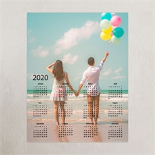 Vollbild Kalender Poster 2018 Grau 45,7  x 61,0 cm