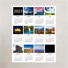 Weiße Zehner Collage Kalender Poster 2015 27,9 x 35,6 cm