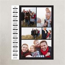 Schwarz Hochformat 2018 Posterkalender Collage fünf Fotos 27,9 x 35,6 cm.