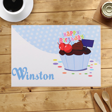 Erster Geburtstag Junge Cupcake personalisierter Tischset
