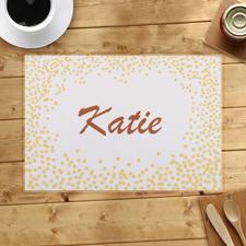 Goldene Confetti Personalisierte Tischdeckchen Sets