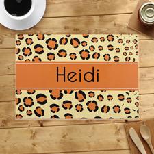 Leopard Personalisierte Platzdeckchen Tischsets