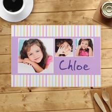 Gestreiftes Muster für Kinder Personalisiertes Platzdeckchen