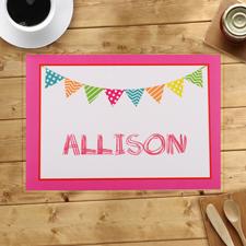Geburtstag Flaggen Pink Birthday Platzdeckchen Tischset
