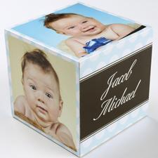 Junge Geburt Pünktchen  5 gestaltbare Fotowürfel