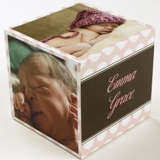 Mädchen Geburt Pünktchen  5 gestaltbare Fotowürfel