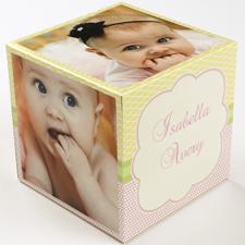 Geburtstag Mädchen  5 gestaltbare Fotowürfel